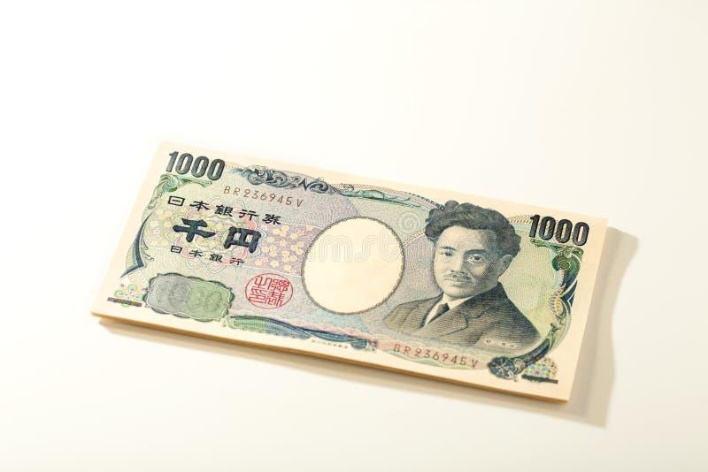 Japansk yen för sedel 1000 fotografering för bildbyråer