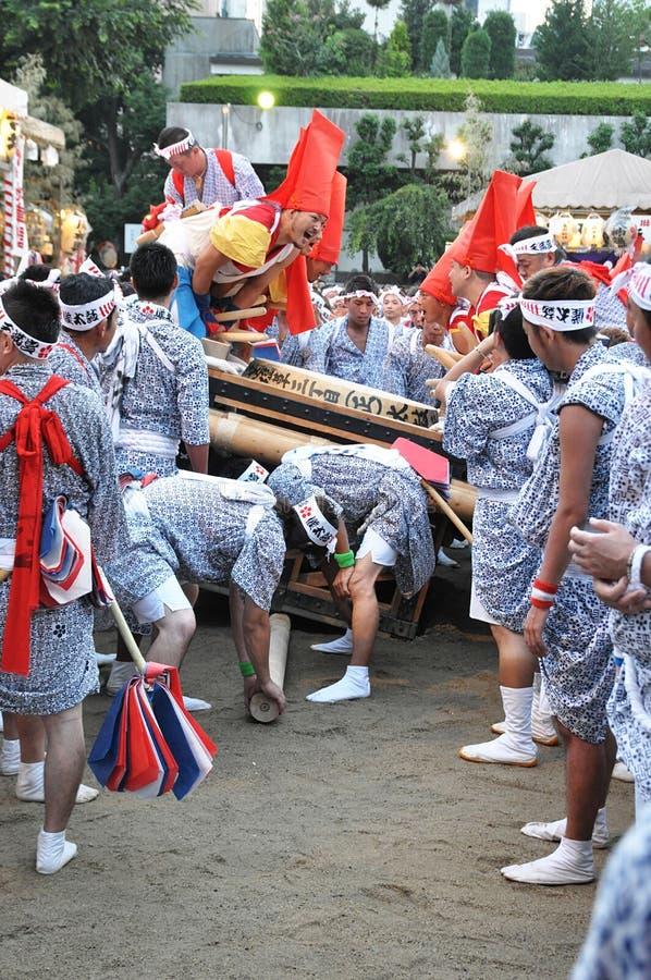 Japanska festivaler arkivbilder