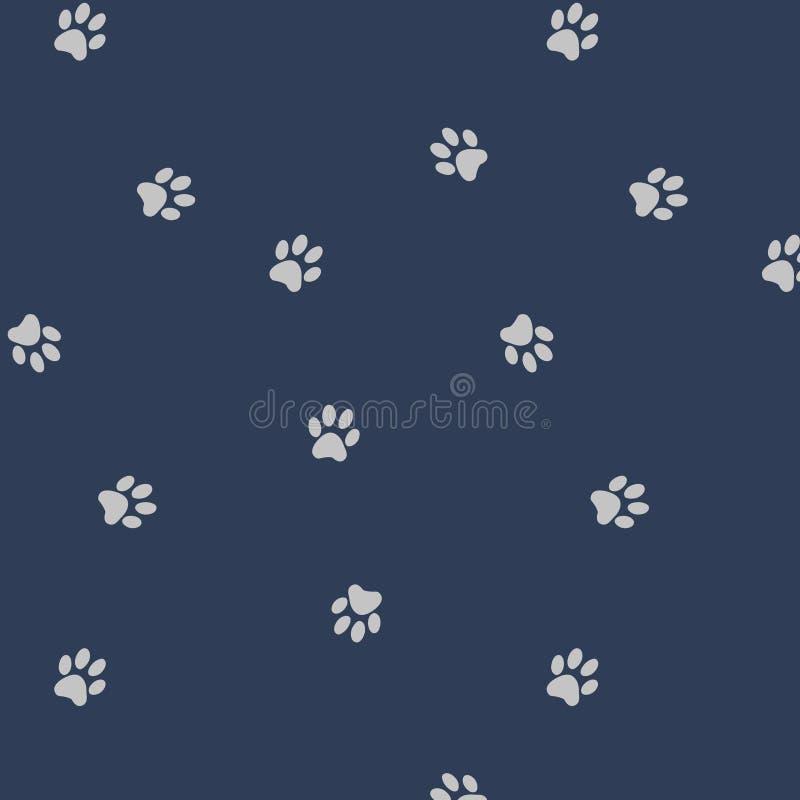 Japanska gulliga Paw Pattern royaltyfri illustrationer