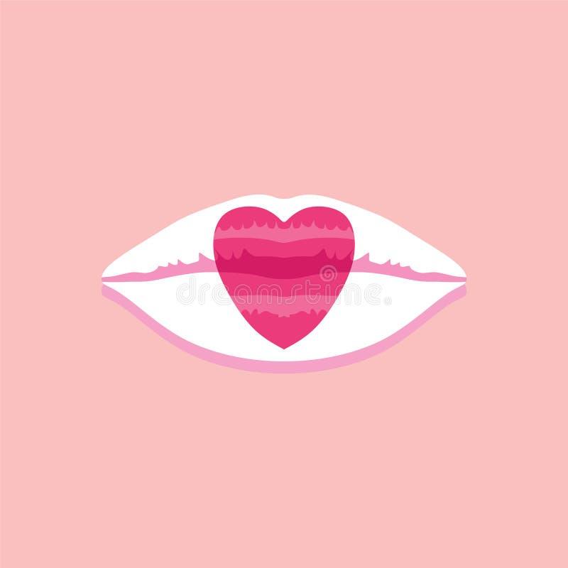 Japanska kanter på rosa pastellfärgad bakgrundsvektorillustration vektor illustrationer