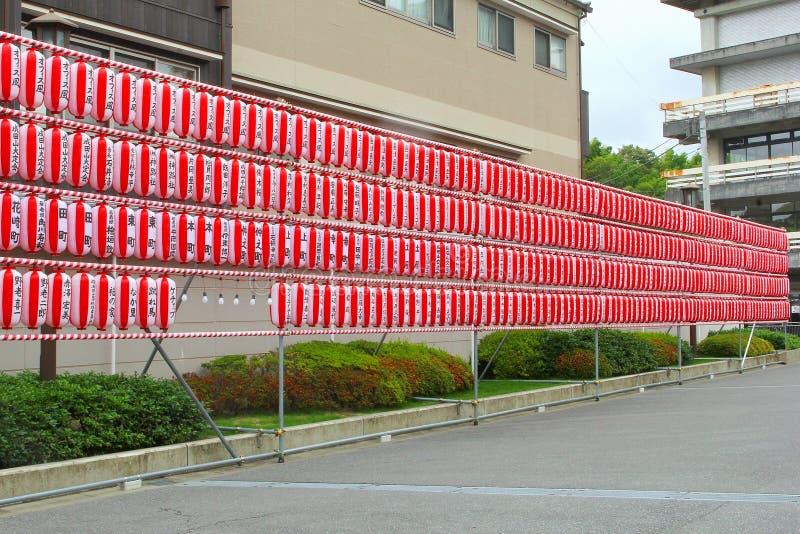 Japanska lyktor utomhus- gata, Narita, Japan för hundratals royaltyfria foton
