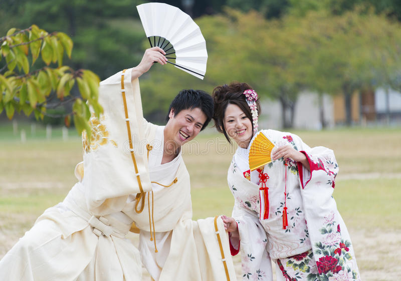 Japanska par royaltyfri bild