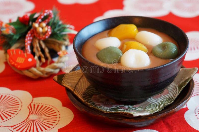 Japanska sötsaker för nyårsdagen arkivfoto