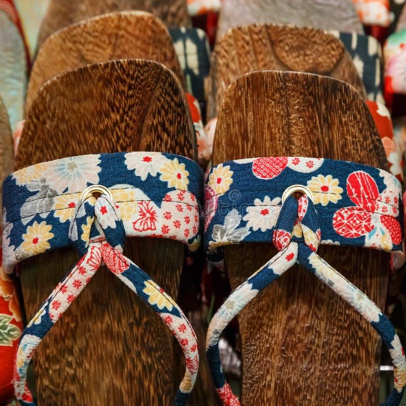 japanska sandals royaltyfri bild
