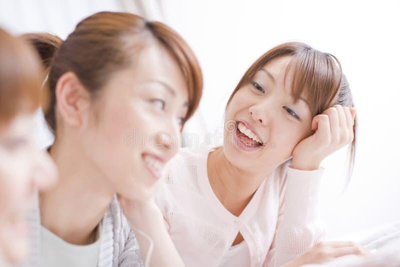 japanska ståendekvinnor arkivbild