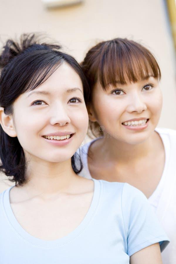 japanska ståendekvinnor royaltyfria bilder