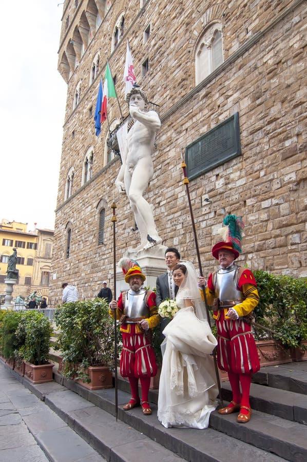 Japanskt bröllop i Florence royaltyfria bilder