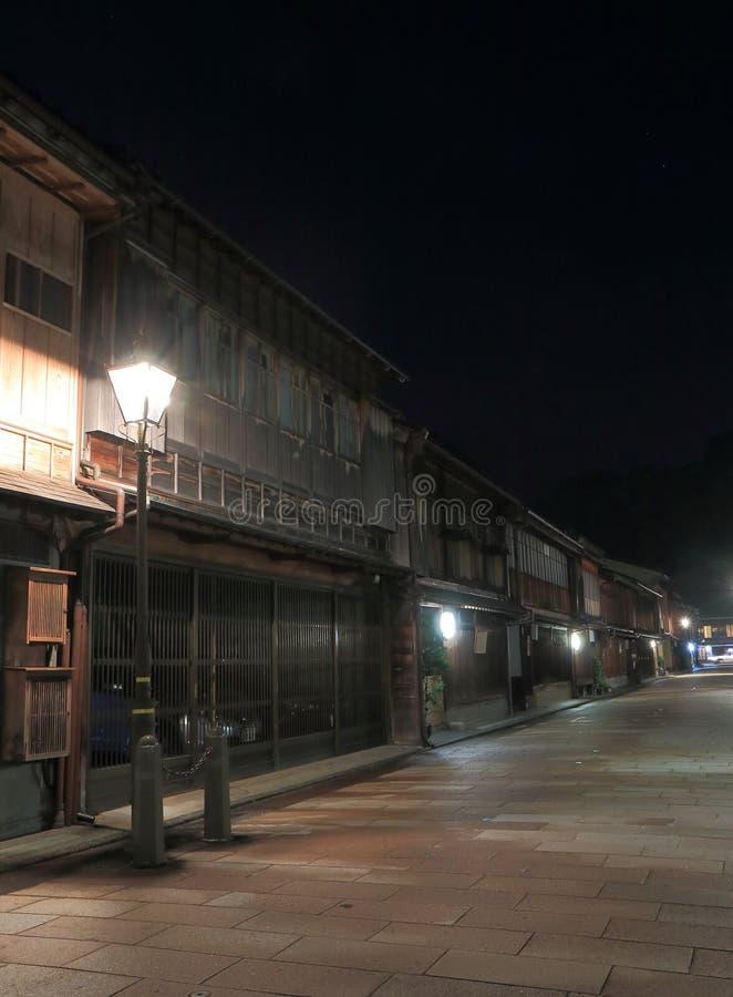 Japanskt gammalt hus Kanazawa royaltyfri bild