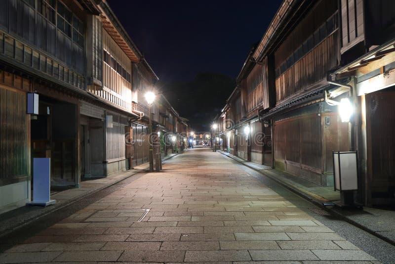 Japanskt gammalt hus Kanazawa royaltyfri fotografi