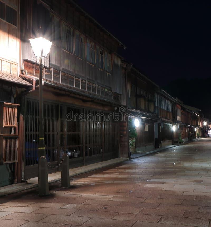 Japanskt gammalt hus Kanazawa arkivfoton