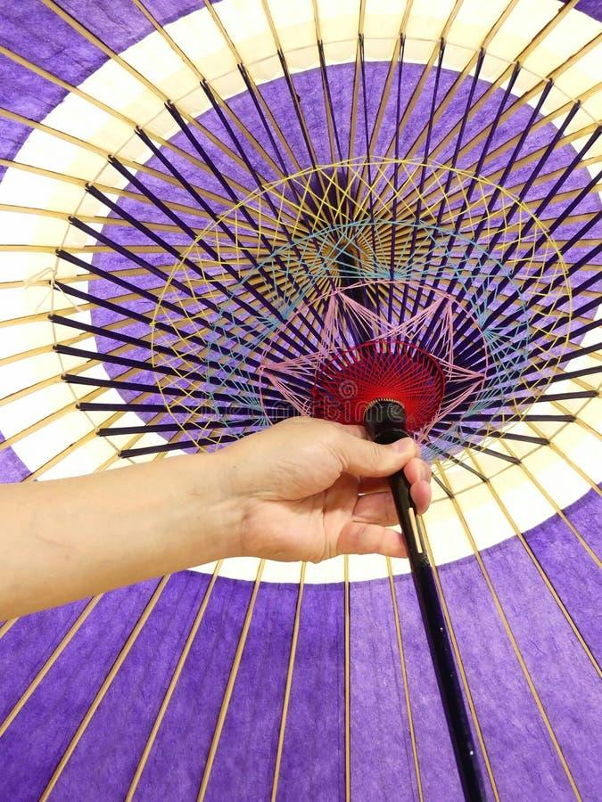 japanskt traditionellt paraply arkivbilder