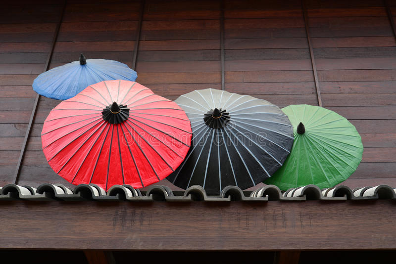 japanskt traditionellt paraply royaltyfri foto
