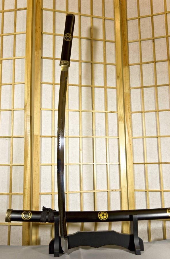 japanskt traditionellt samuraisvärd arkivfoton