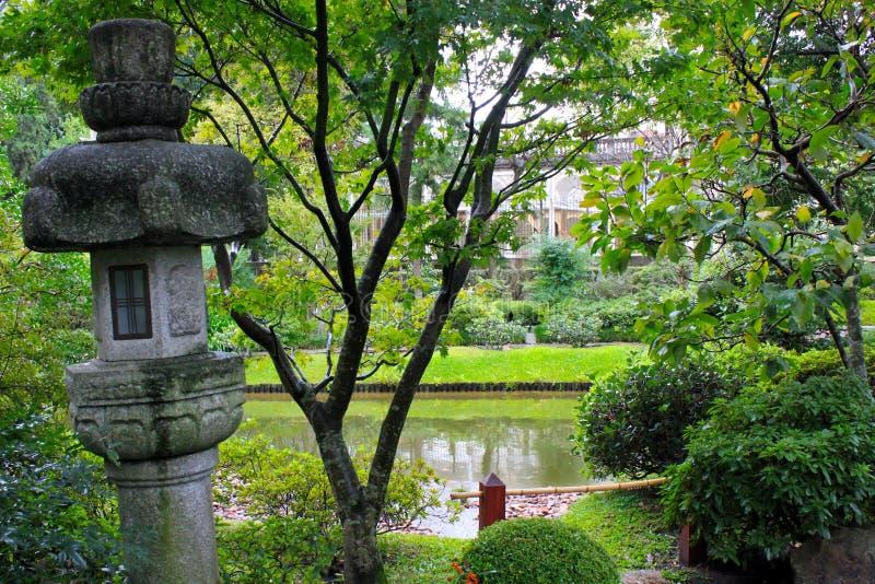 Japanträdgård i Montevideo arkivbild