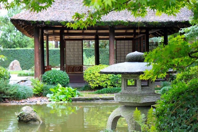 Japanträdgård i Montevideo royaltyfria bilder