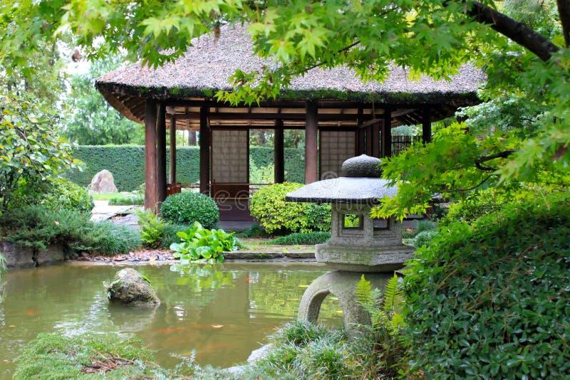 Japanträdgård i Montevideo arkivbilder