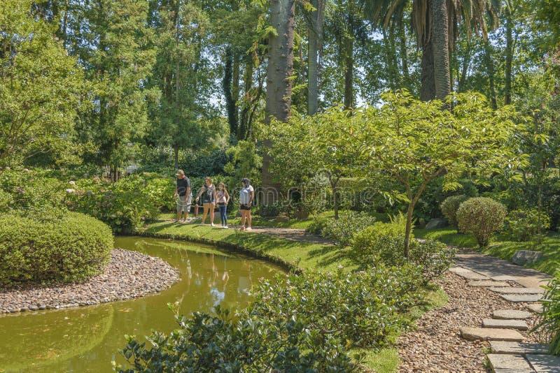 Japanträdgård, Montevideo, Uruguay royaltyfri fotografi