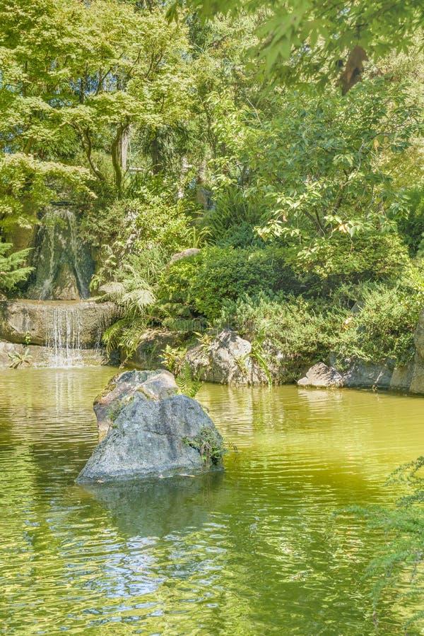Japanträdgård, Montevideo, Uruguay royaltyfria foton