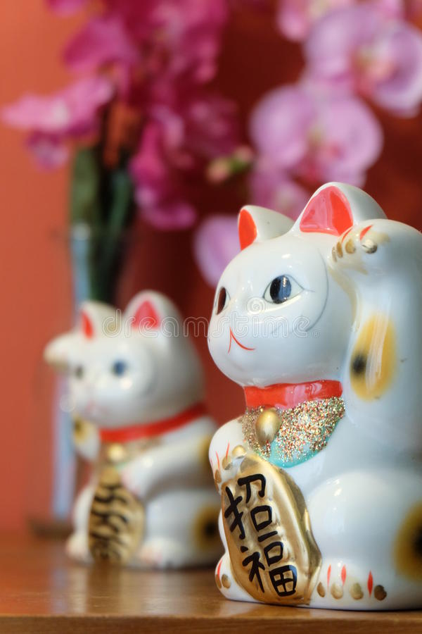 Japnese Lucky Cat fotografie stock libere da diritti