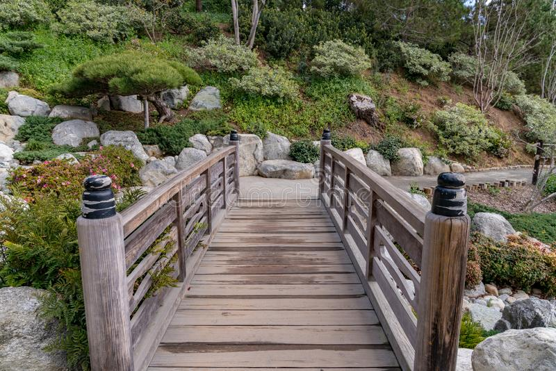 Japońska ogródu mostu wody ścieżka obraz royalty free