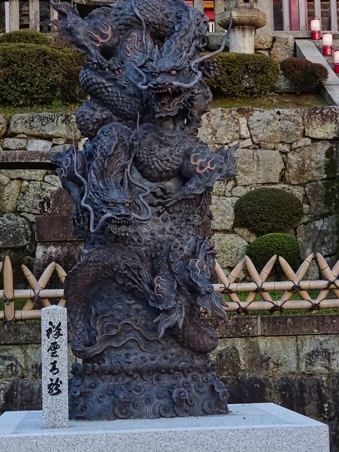 japońska smok rzeźba fotografia stock