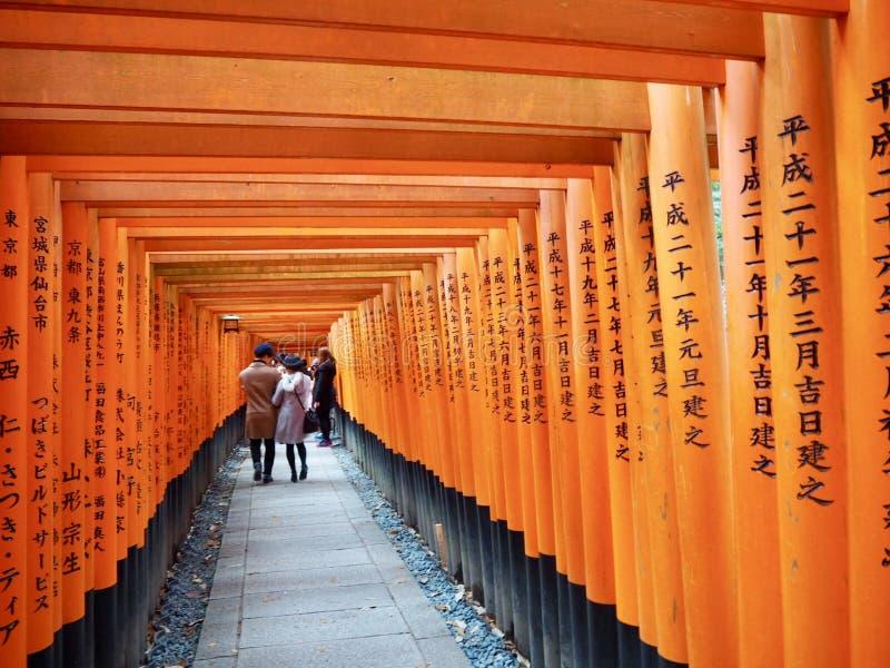 Japońskie świątyni Torii bramy fotografia stock
