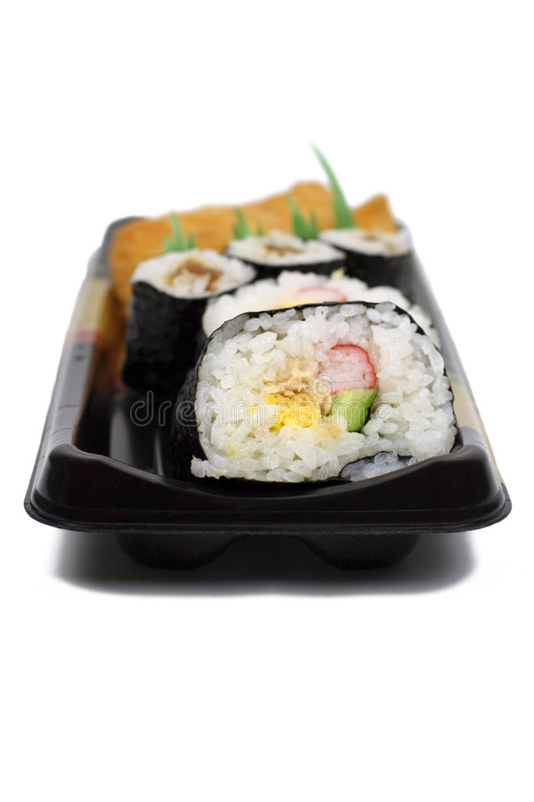 japończycy casserole zwija sushi zdjęcie royalty free