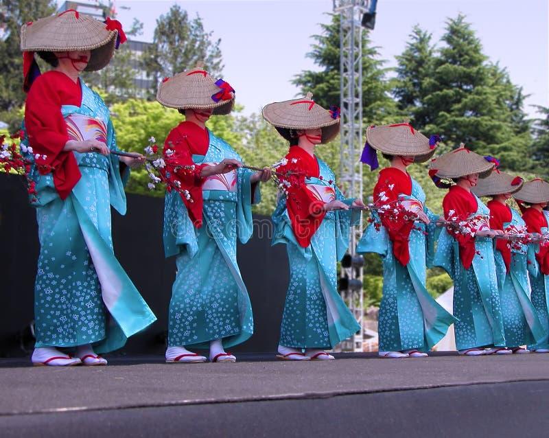 japończycy tańca zdjęcie royalty free