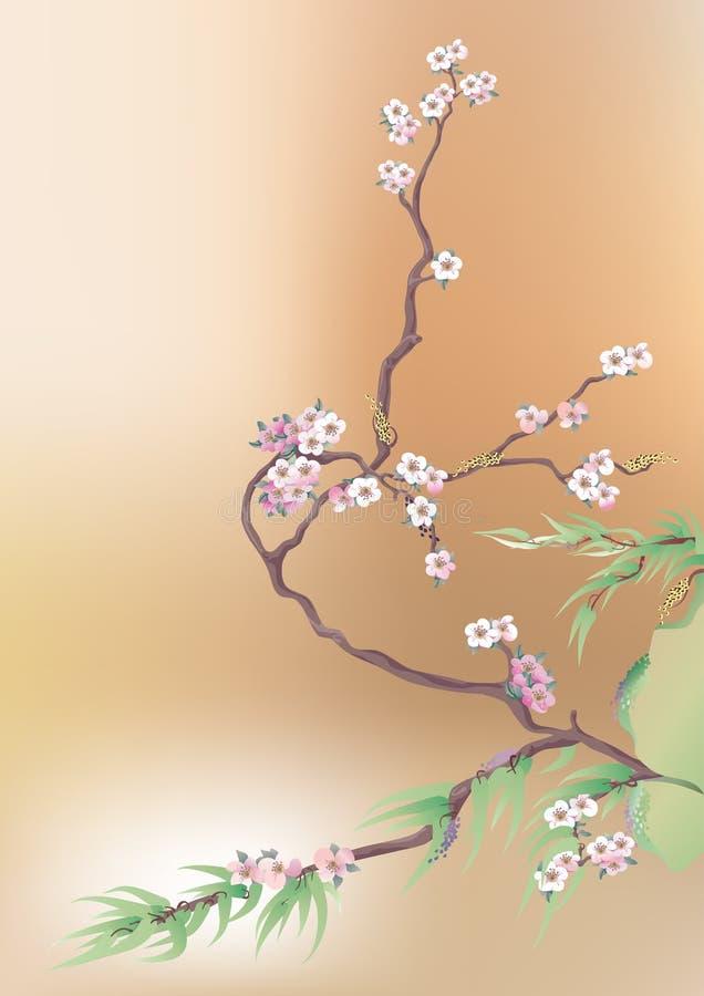 japończycy wiśniowy royalty ilustracja