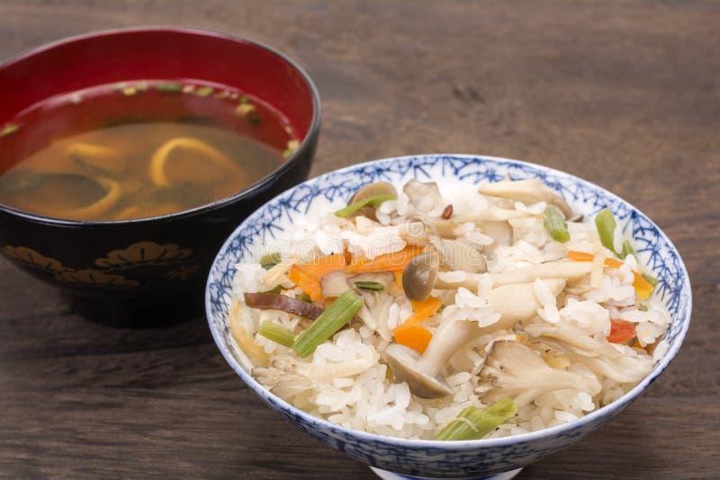 Japończyków gotowani ryż fotografia royalty free