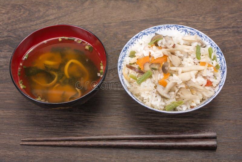 Japończyków gotowani ryż fotografia stock