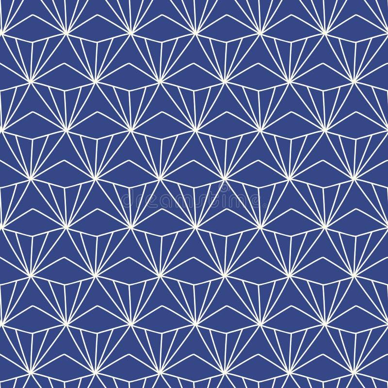 Japończyk, Chiński tradycyjny azjatykci geometryczny bezszwowy wzór ilustracja wektor