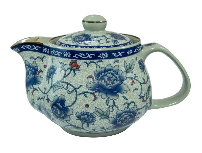 Japończyka deseniowy ceramiczny herbaciany garnek ceramiczna ceramiczna porcelana zdjęcia stock