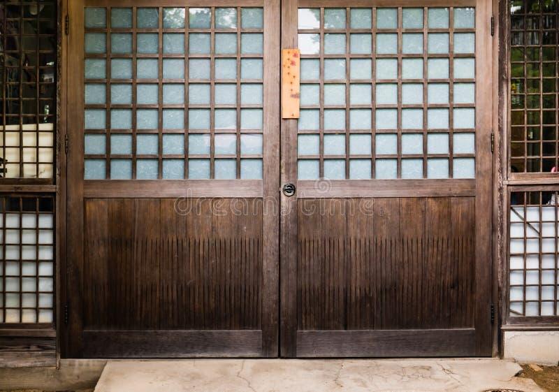 Japończyka domowy drzwi fotografia royalty free