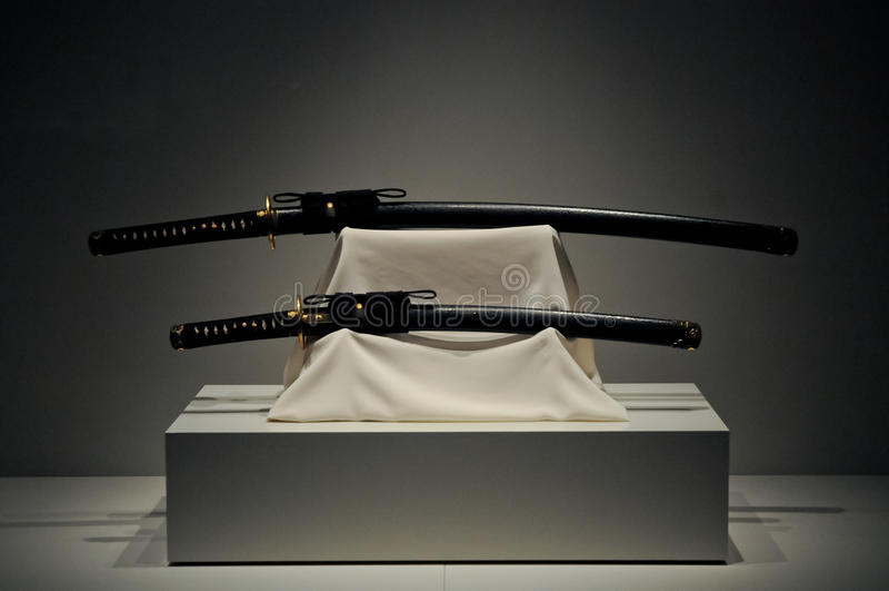 Japończyka Katany samurajowie tęsk kordziki fotografia stock