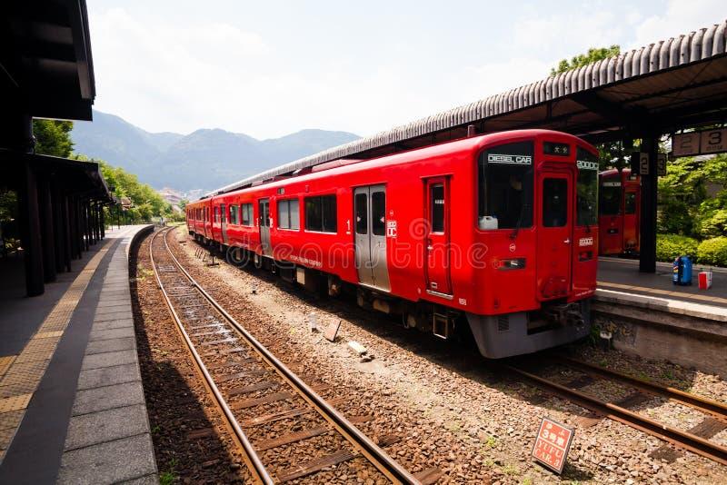 Japończyka lokalny pociąg fotografia stock