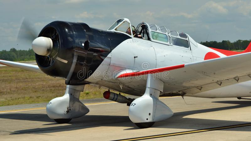Japończyka A6M Zero samolot szturmowy fotografia royalty free