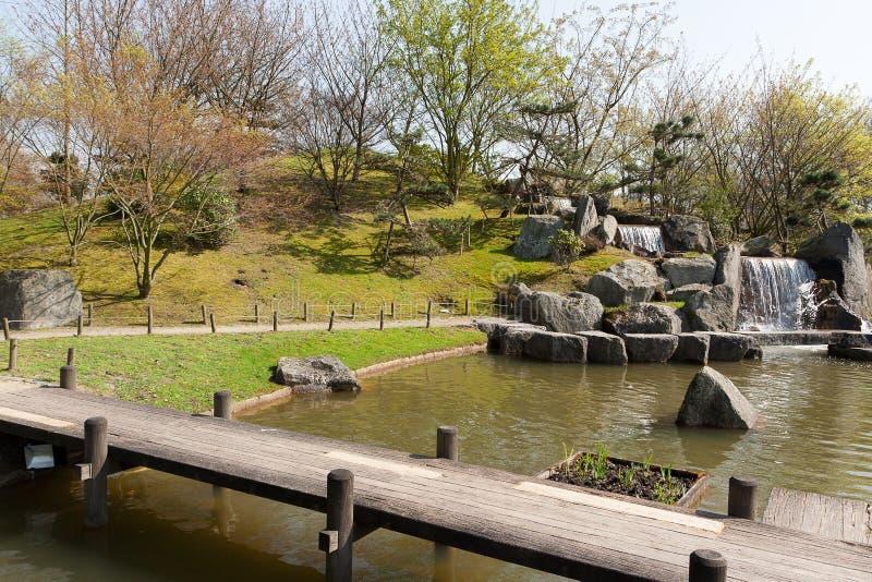 Japończyka ogród, Hasselt, Belgia fotografia royalty free