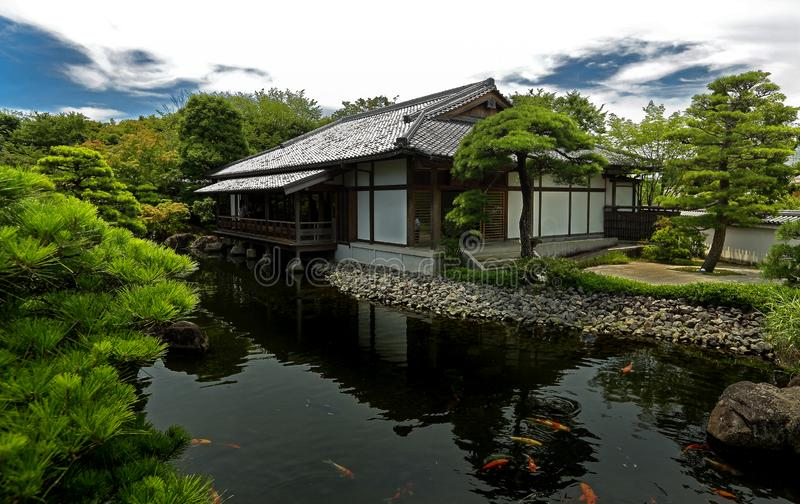Japończyka ogród - nihon teien zdjęcie royalty free
