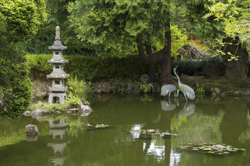 japończyka ogrodowy staw fotografia stock