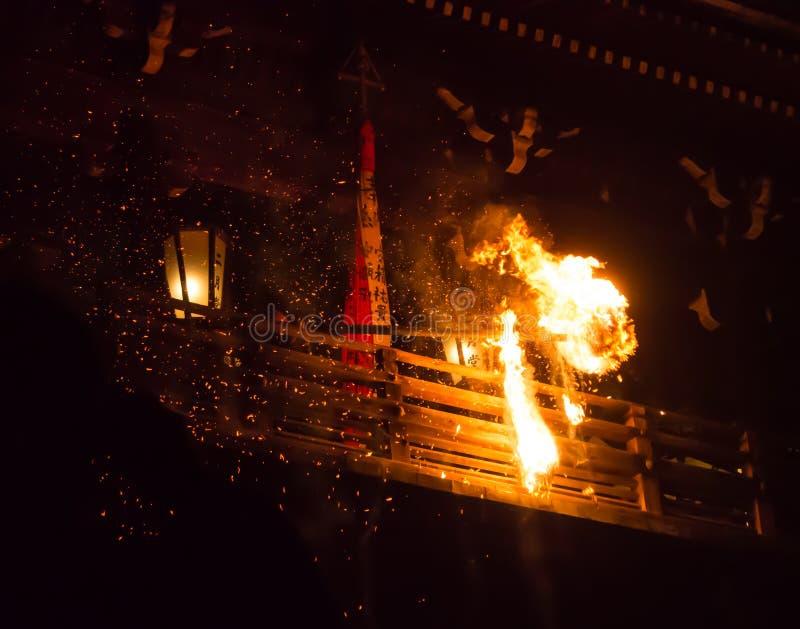Japończyka pożarniczy festiwal obraz stock