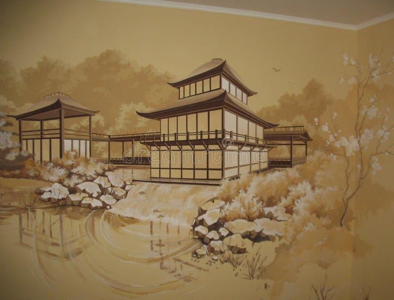Japończyka sąd ilustracja wektor