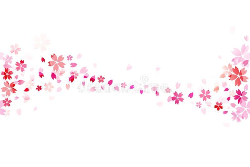Japończyka Sakura bezszwowa tapeta ilustracja wektor