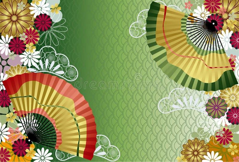 japończyka tradycyjny deseniowy ilustracja wektor