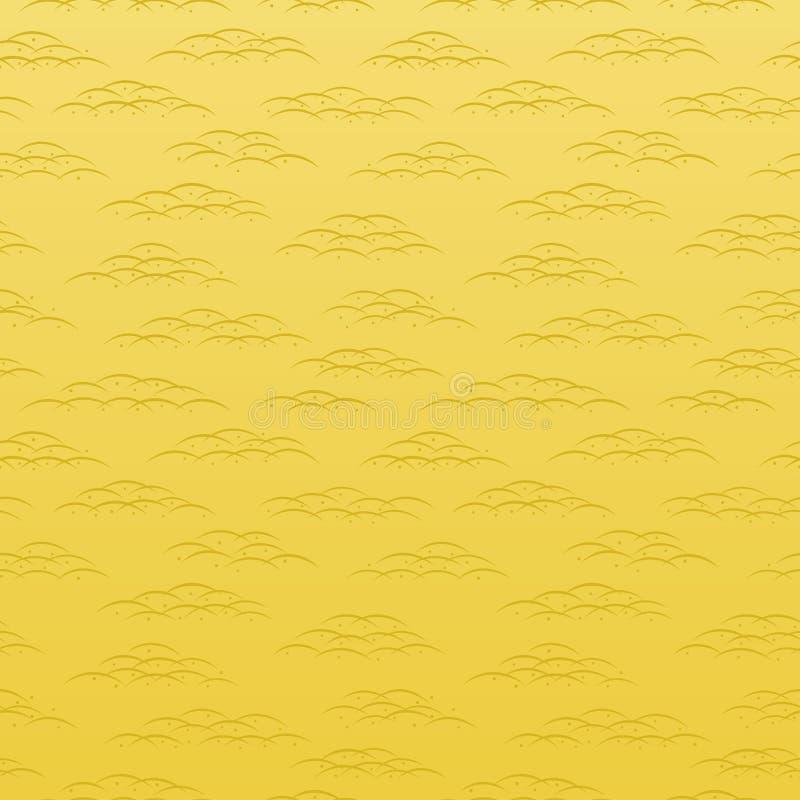 japończyka tradycyjny deseniowy dewdrop i trawy tło royalty ilustracja
