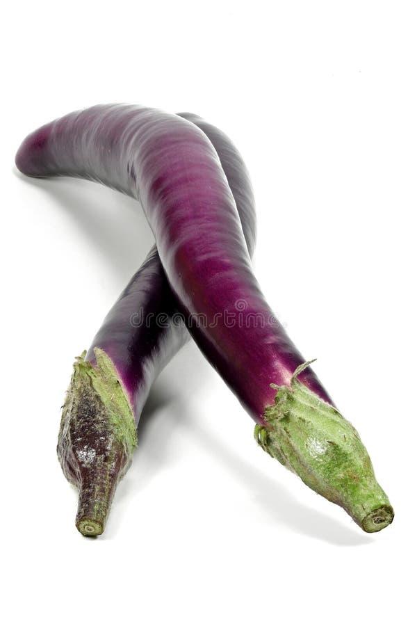 Japońscy aubergines obrazy stock