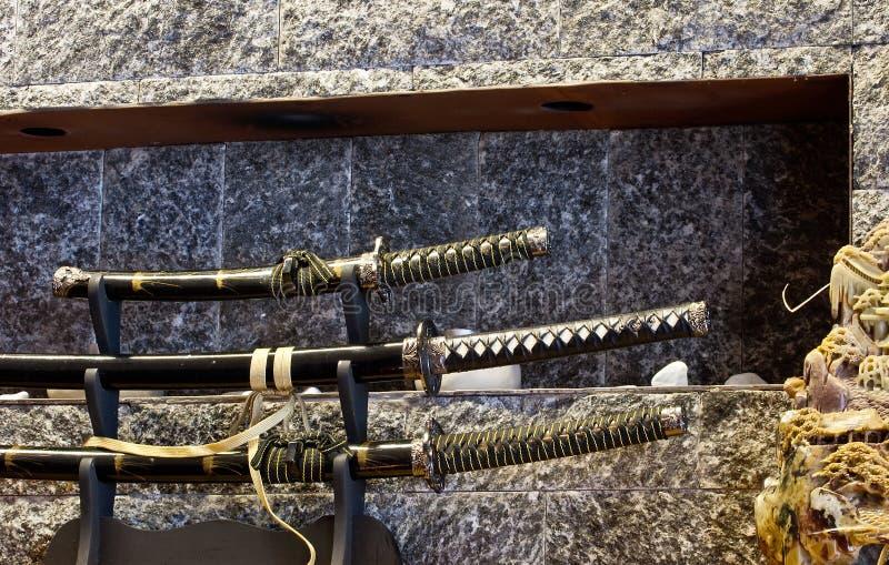 Japońscy kordziki zdjęcie royalty free