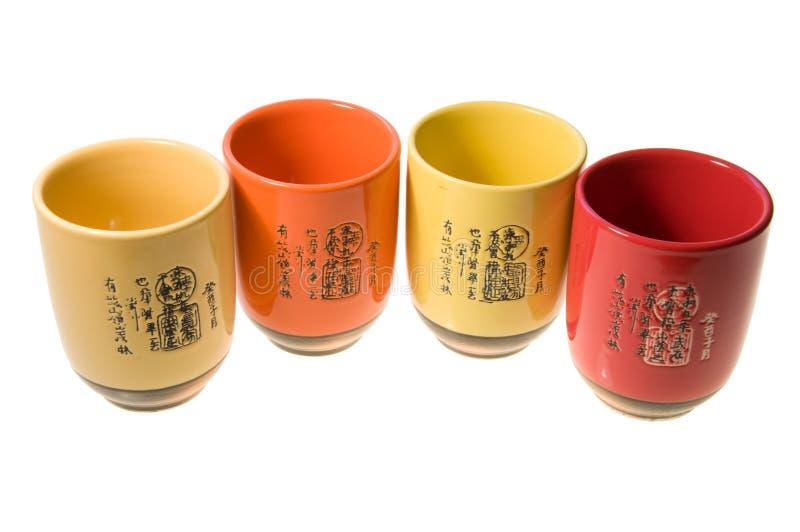 japońscy teacups zdjęcie royalty free