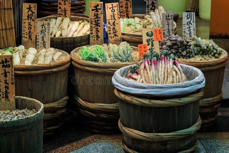 Japońscy zalew warzywa obraz stock