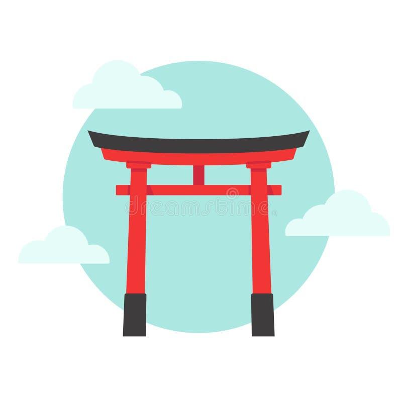 Japońska brama Torii royalty ilustracja